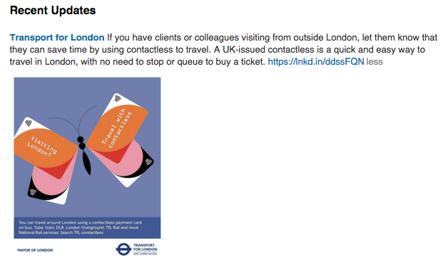Transport for London contactless payment